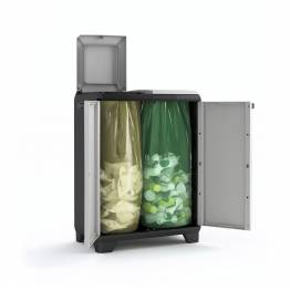 Mobile Raccolta differenziata Split Recycling Premium 68 x 39 x 92 h grigio